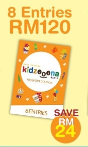 Picture of KIDZOOONA NORMAL PASSPORT COUPON (8 Entries)