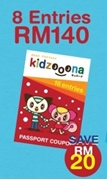 Picture of KIDZOOONA PREMIUM PASSPORT COUPON (8 Entries)